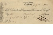 Cheque of Union Bank of Croydon, 1844