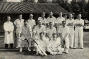 Photograph of the staff cricket team of Lombard Banking Ltd, 1962