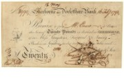 £20 note of Sherborne & Dorsetshire Bank, 16 February 1792