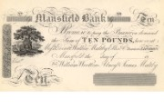 £10 note of Mansfield Bank, c.1816