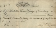 Cheque of Ricketts, Thorne & Courtney, c.1817