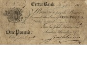 £1 note of Exeter Bank, 14 March 1808