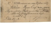 Cheque of William Moore Esq, 1859