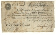 £1 note of Kentish Bank, 20 August 1815