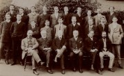 Photograph of the staff of Derby Irongate branch, 1908