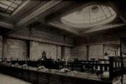 Inside Bolton branch of Manchester & County Bank Ltd, 1920s