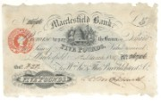 £5 note of Macclesfield Bank, 1889