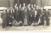 The staff fire brigade of Bartholomew Lane branch of Parr's Bank Ltd, 1912