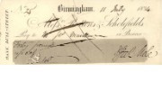 Cheque of Messrs Rottons & Scholefields, 11 July 1834
