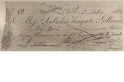 Cheque of Messrs Ladbroke, Kingscote & Gillman, 1835