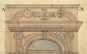 Detail from drawing of Battersea branch, 1887