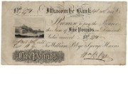 £5 note of Ilfracombe Bank, 1835