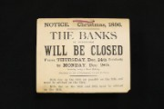 Bank holiday notice, 1896