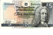 Earl of Ilay depicted on £5 banknote, 1987-2016