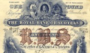 Detail of a Royal Bank of Scotland £1 note, 1914
