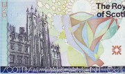 Detail of Royal Bank of Scotland commemorative £1 note, 1999