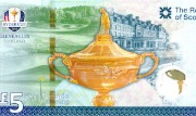 Detail of the Ryder Cup commemorative £10 note