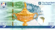 The Ryder Cup commemorative £5 note, 2014