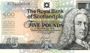 Detail of the Royal College of Surgeons commemorative £5 note