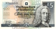 Royal College of Surgeons commemorative £5 note, 2005