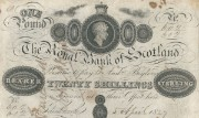 Detail of a Royal Bank of Scotland £1 note, 1827