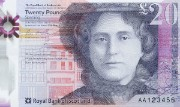 Detail of the Royal Bank of Scotland's £20, 2020