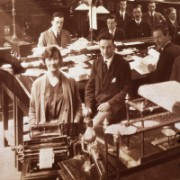 Staff of the Royal Bank of Scotland's Glasgow office, c.1925