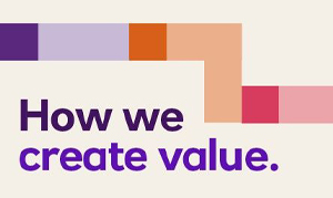 How we create value, NatWest Group colour-branded boxes