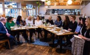 Alison Rose chairs an informal lunch with entrepreneurs